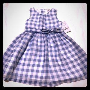 Carters NWT blue/white baby dress, 9mo